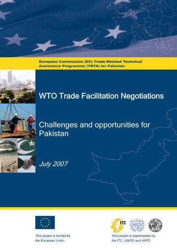 Challenges and opportunities for Pakistan WTO Trade ... - TRTA i