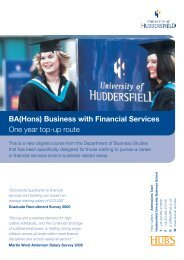 BA(Hons) Business with Financial Services One year top-up route