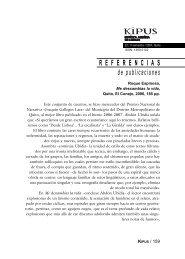 R E F E R E N C I A S de publicaciones - Repositorio UASB-Digital