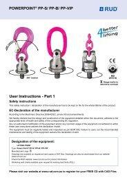 POWERPOINT® PP-S/ PP-B/ PP-VIP User Instructions - Part ... - RUD