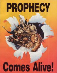 Prophecy Comes Alive - Church of God - NEO