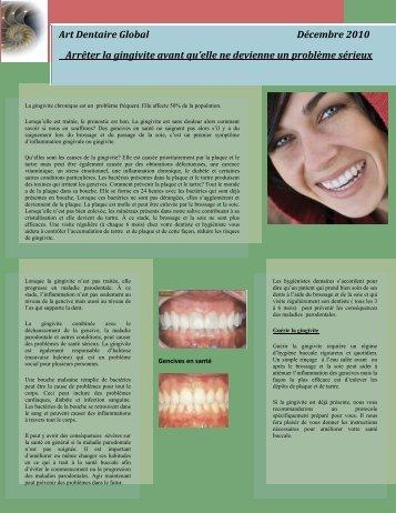 Art Dentaire Global Décembre 2010 Arrêter la gingivite avant qu'elle ...
