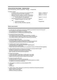 GUÍA DE ESTUDIO PARA EXAMEN – COMUNICACIONES (Libro ...