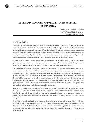 el sistema bancario andaluz en la financiacion autonomica