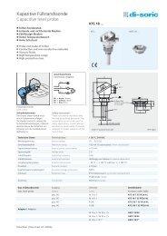 Kapazitive Füllstandssonde Capacitive level probe - KLS Controls LLC