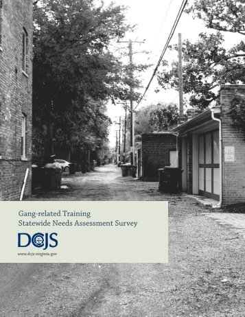 Gang-related Training Statewide Needs Assessment Survey