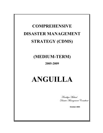 ANGUILLA Comprehensive Disaster Management Strategy (CDMS)