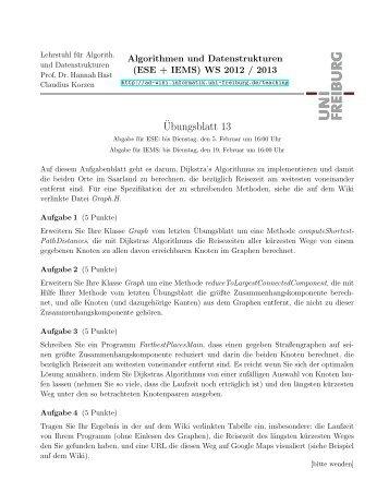 ¨Ubungsblatt 13 - ad-teaching.infor...