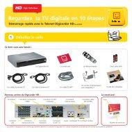 Guide d'installation Digicorder HD DC AD2000 - Klantenservice