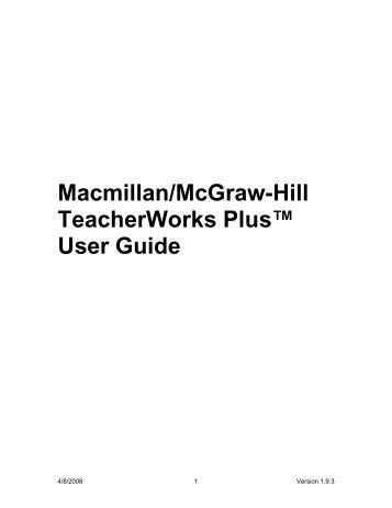 TeacherWorks Plus - Macmillan/McGraw-Hill