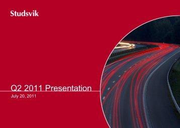 Presentation slides Q2 - Studsvik