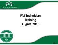 FM Technician Training August 2010 - Facilities Management