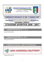 COMUNICATO n.37 del 10/05/2007 - FIGC
