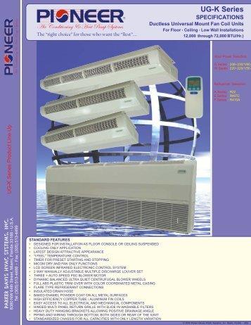 UG-K Series - Parker Davis HVAC