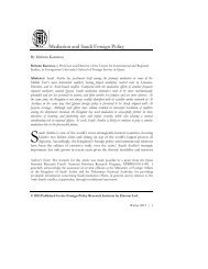 Mediation and Saudi Foreign Policy - Georgetown University