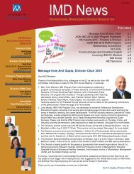 IM Division July 2010 Newsletter (pdf) - Academy of Management ...