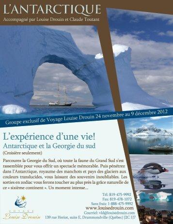 L'ANTARCTIQUE - Agence voyage Louise Drouin