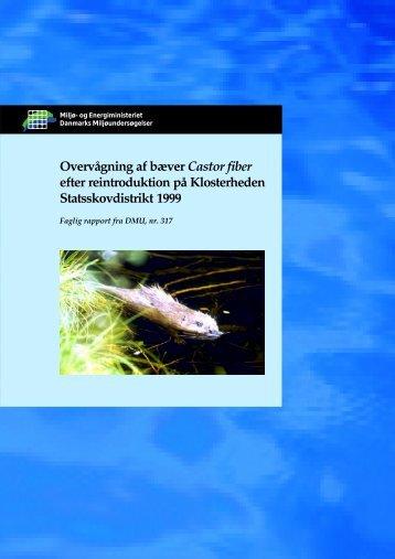 Overvågning af bæver Castor fiber efter reintroduktion på ...