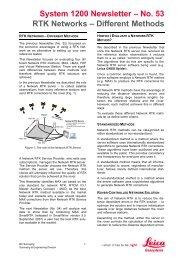 System 1200 Newsletter – No. 53 RTK Networks – Different Methods