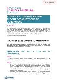 Synthèse des livrets du participant - Grenoble