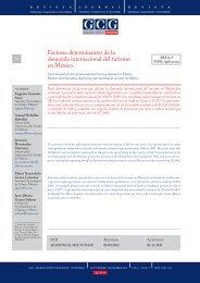 Factores determinantes de la demanda internacional del turismo en ...