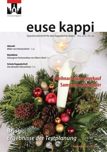 Brisgi: Ergebnisse der TestplanungS.8 - euse-kappi.ch