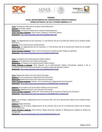 DEPARTAMENTO DE CONTROVERSIAS CONSTITUCIONALES ...