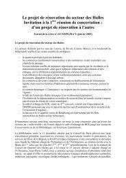 Le projet de rénovation du secteur des Halles Invitation à la 1 ...