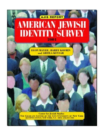 American Jewish Identity Study - College of Liberal Arts and Sciences