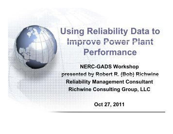 NERC GADS Benchmarking Workshop 2011.pdf - SERC Home Page