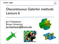 Lecture 6 - Center for Fluid Mechanics, Turbulence and Computation