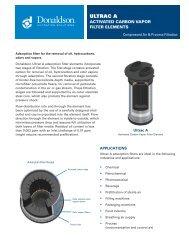 A Ultrac Activiated Carbon Vapor Filter Element - Donaldson ...