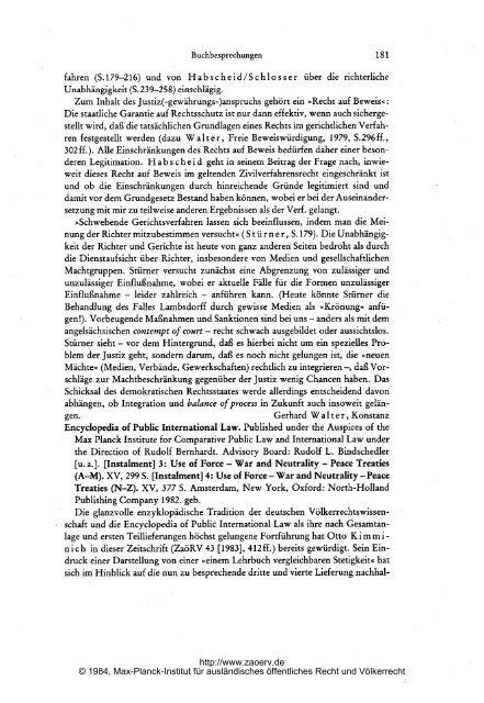 Buchbesprechungen* - Zeitschrift für ausländisches öffentliches ...
