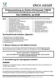 Einbauanleitung zu Elektro-Einbausatz 736639 KIA CARNIVAL ab ...
