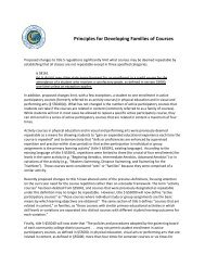 Principles for Developing Families of Courses - California ...