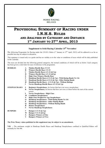 I.N.H.S. RULES - Horse Racing Ireland.