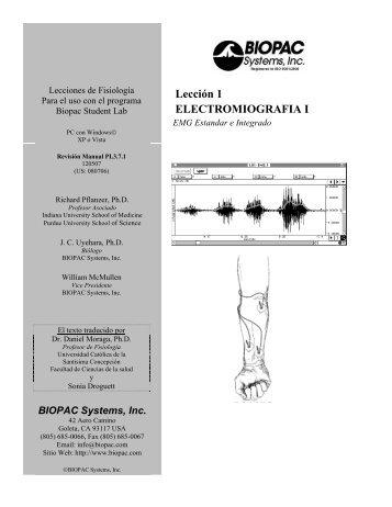 Lección 1 ELECTROMIOGRAFIA I - Biopac
