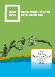 dopage doping guide de contrôle du dopage doping control guide