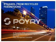 Ethanol from recycled feedstocks - Tekes