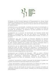 O Plenário do XIII Encontro Nacional de Pesquisadores em ... - CFESS