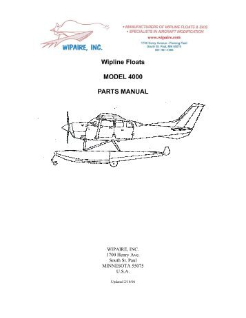 Model 2100 Parts Manual for Cessna 172 - Wipaire Inc.