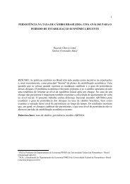 1 PERSISTÊNCIA NA TAXA DE CÂMBIO BRASILEIRA: UMA ...