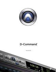 D-Command Guide v8.0 (PDF) - Advanced Audio