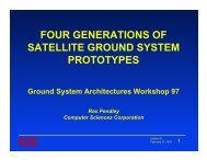 four generations of satellite ground system prototypes