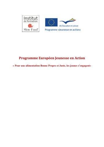 Programme Européen Jeunesse en Action