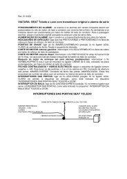 VIATURA: SEAT Toledo e Leon com transmissor original e alarme ...