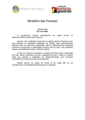 Lei de Bases do Investimento Privado - saflii