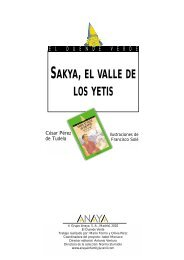 SAKYA, EL VALLE DE LOS YETIS - Anaya Infantil y Juvenil