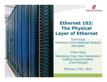 Ethernet 102: The Physical Layer of Ethernet - Ethernet Alliance