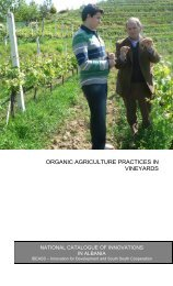 organic agriculture practices in vineyards - Agency for Research ...